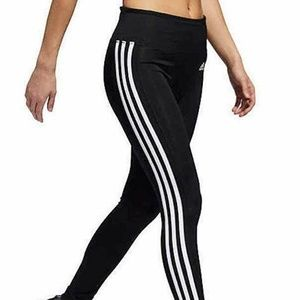 NWT Women's Black Adidas Climalite 7/8 Tights